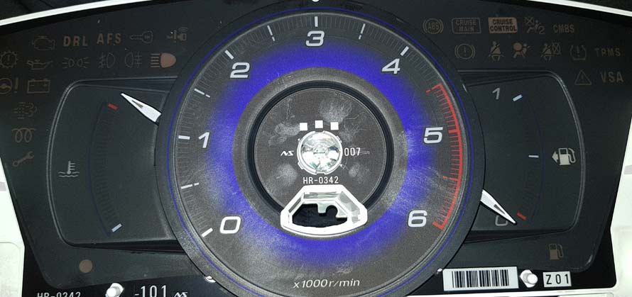 Honda civic instrument cluster taxometer background scale